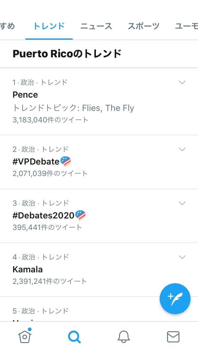 プエルトリコ2020年の人口よりツイッターのトレンドランキングのツイート件数が多い?毎日新聞の記事「「#検察庁法改正案に抗議します」400万超 ネット世論、政治に一撃」についてツイート件数の疑問を検証する
